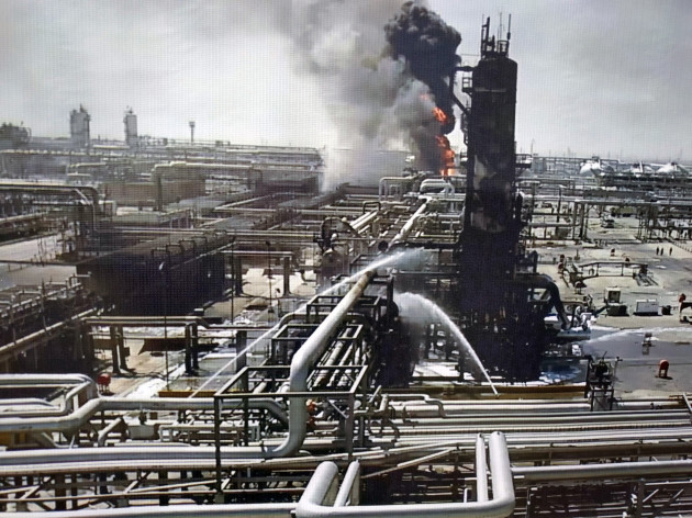 press-tour-to-the-saudi-aramco-oil-refinery-at-the-abqaiq-and-khurais-oil-fields-in-saudi-arabia-that-was-attacked-by-drones-on-september-14