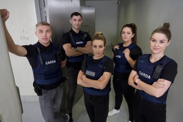 Dwayne OBrien Garda, Simon Cadam Garda, Selina Proudfoot Sergeant, Megan Furey Garda, Rebekah Gaffey Garda