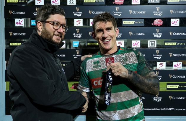 ian-keatley-is-presented-with-the-guinness-pro14-man-of-the-match-award-by-emanuele-brianti