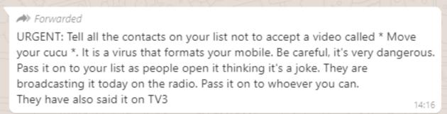 whatsapp video message screenshot