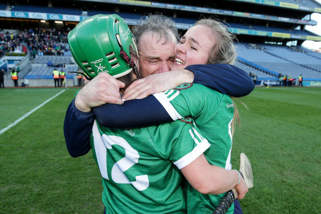 michael-mcgrath-celebrates-after-the-game-with-sarah-spellman-and-sinead-cannon