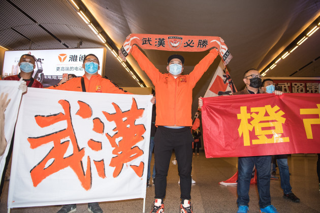 china-wuhan-football-team-return-home-cn