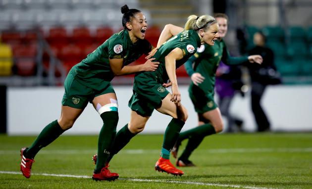 diane-caldwell-celebrates-scoring-the-first-goal-with-rianna-jarrett