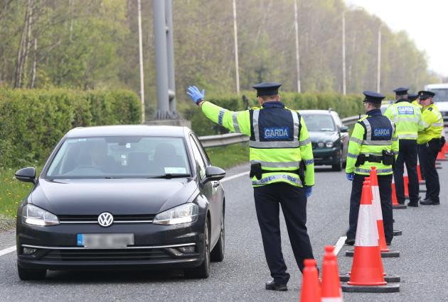 015 Garda Checkpoint