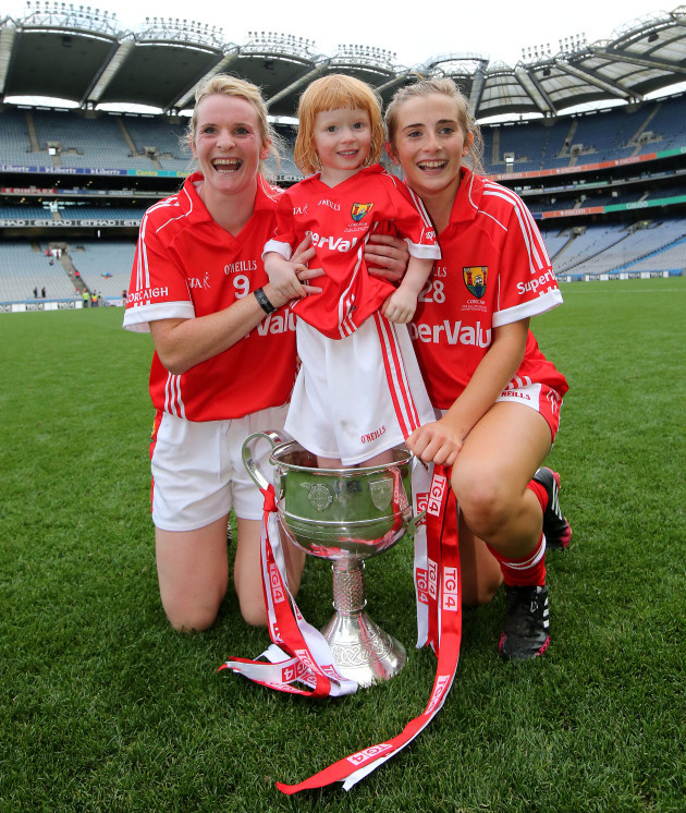 briege-corkery-and-mairead-corkery-celebrate-with-their-niece-bridgin
