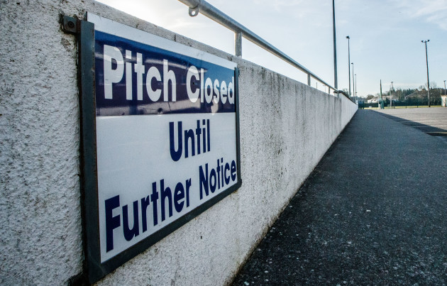 a-view-of-the-navan-omahonys-gaa-club-as-the-coronavirus-brings-a-stop-to-all-irish-sport-until-at-least-march-29th