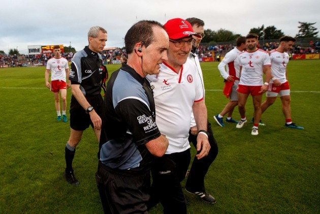 david-coldrick-talks-to-mickey-harte-after-the-game