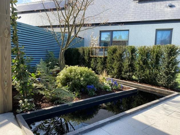 Mark Hoey - Garden After Flower Bed & Black Pool