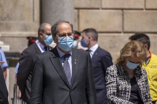 minute-of-silence-for-coronavirus-victims-in-barcelona-spain-27-may-2020