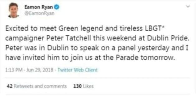 Eamon Ryan 2018 tweet