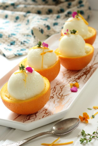 Orange thyme sorbet