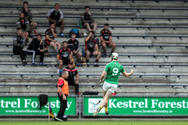 gary-molloy-celebrates-scoring-a-goal-in-front-of-the-oulart-the-ballagh-substitutes