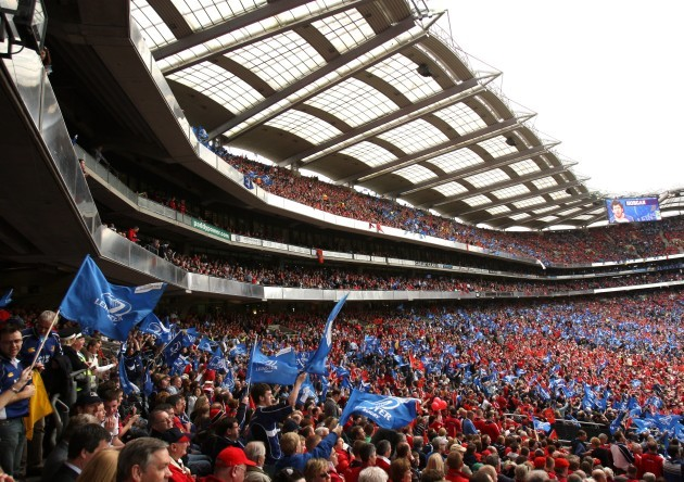 general-view-of-munster-and-leinster-fans-at-croke-park