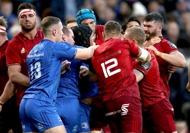 tempers-flare-between-leinster-and-munster-players