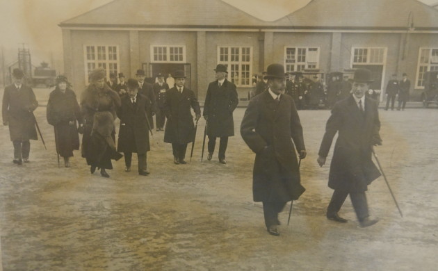 36 Isidore Salmon gives King George tour of Greenford 1923 courtesy Salmon and Gluckstein family