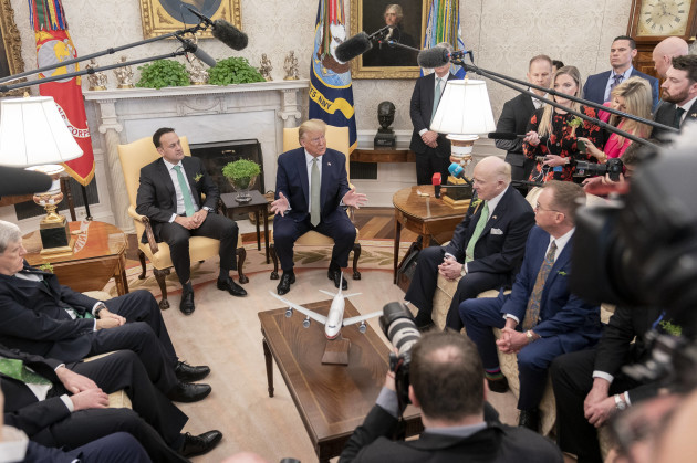 u-s-president-trump-hosts-irish-prime-minister-varadkar-for-st-patricks-day