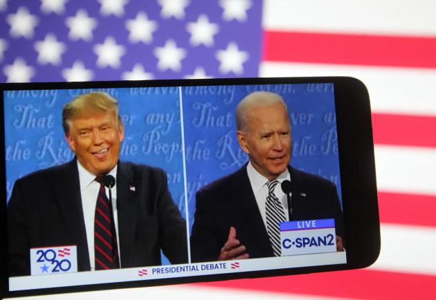 us-presidential-debate-illustrative-images-in-kiev-ukraine-30-sep-2020