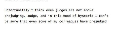 pre-judge