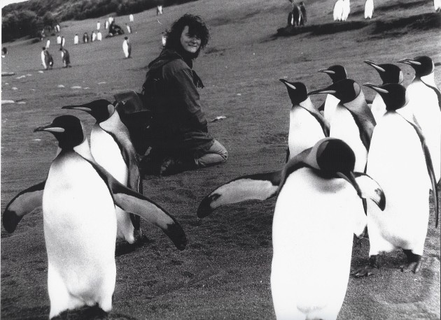 Grace with penguins