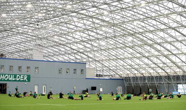 a-view-of-the-ireland-team-warming-up