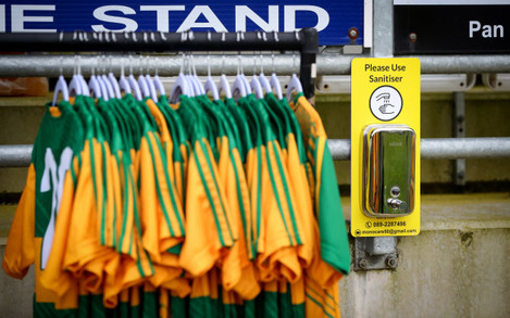 a-view-of-a-sanitising-station-at-inniskeen-grattans-gaa-club