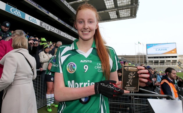 aishling-moloney-is-presented-with-her-player-of-the-match-award