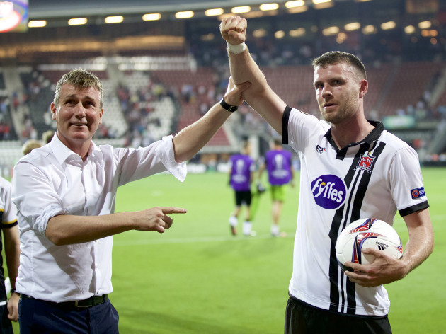 ciaran-kilduff-celebrates-scoring-the-equaliser-with-after-the-game-with-stephen-kenny