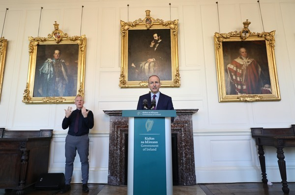 Taoiseach, Press Conference Dublin Castle 002