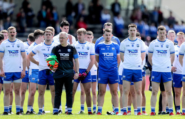 the-waterford-team-line-up-for-the-national-anthem