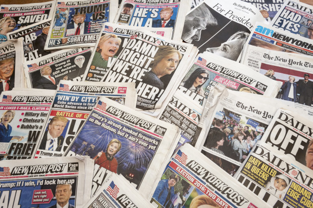 ny-new-york-newspapers-report-on-clinton-trump-election