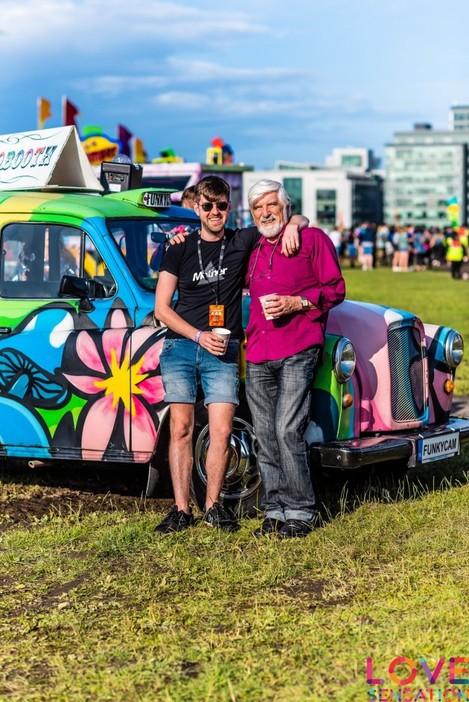 Cormac Cashman with his dad Seamus at Love Sensation Festival