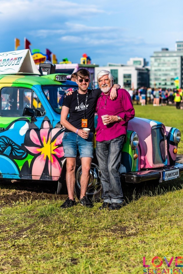 Cormac Cashman with his dad Seamus at Love Sensation Festival
