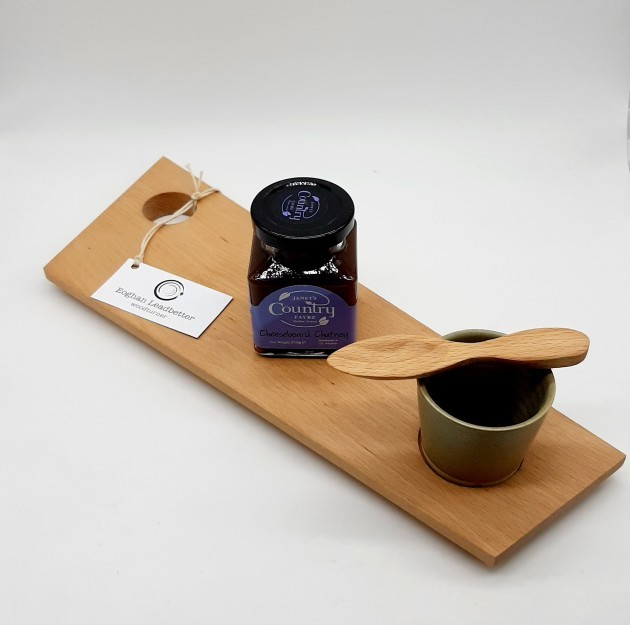 CHEESE BOARD, POT OUT, CHUTNEY AND WOODEN SPOON2