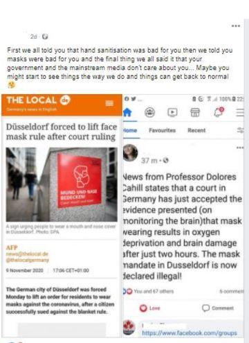 Dusseldorf Facebook claim