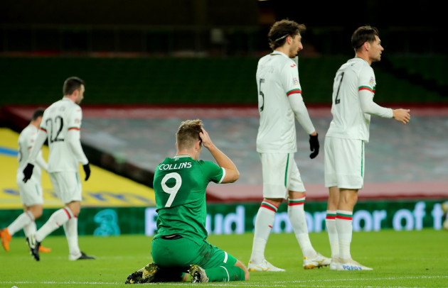 james-collins-reacts-to-a-missed-chance