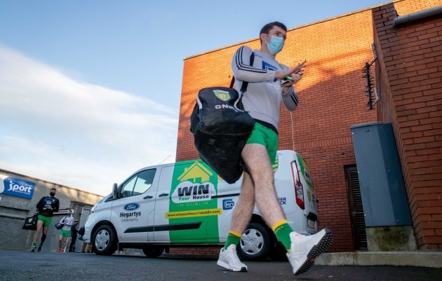 donegal-players-arrive-at-the-athletic-grounds