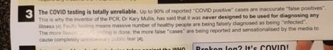 Leaflet false claim PCR