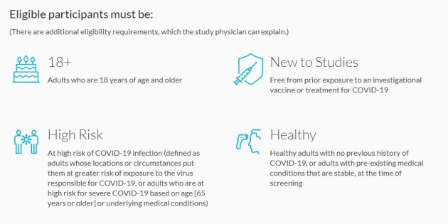 Moderna eligibility requirements
