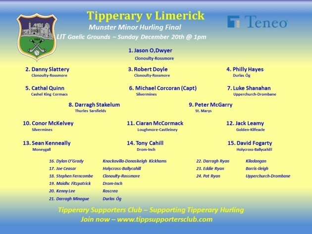 Tipperary MH Munster Final 2020