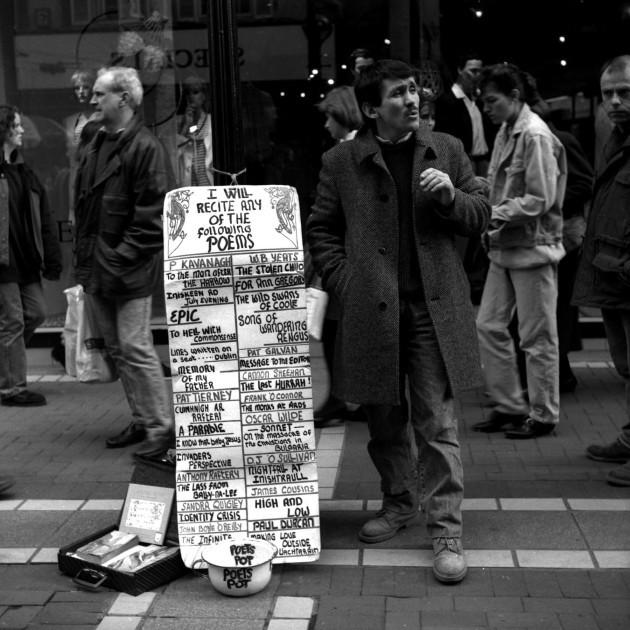 Pic 2pat tierney grafton street dublin 1990