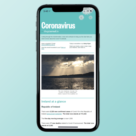 Covid Newsletter Screenshot