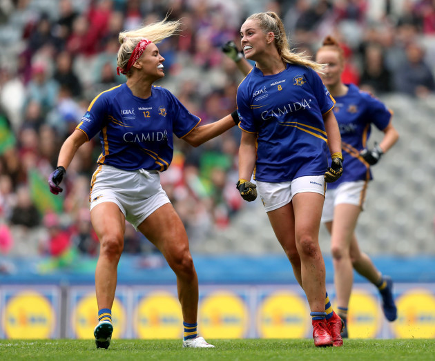 aisling-mccarthy-celebrates-scoring-a-goal-with-orla-odwyer