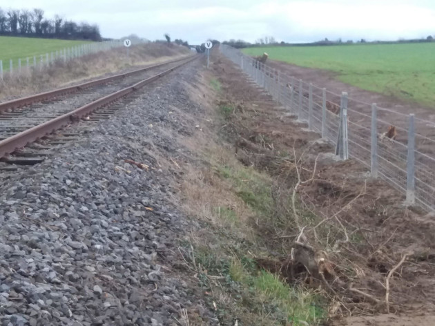Irish Rail After hedgerow removal_SOH