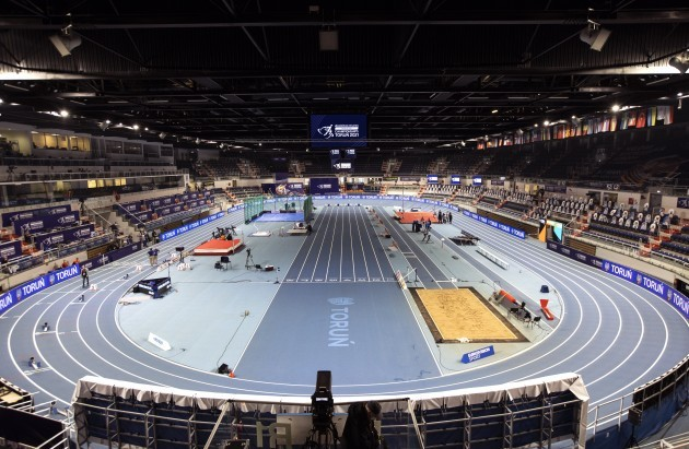 a-view-of-the-athletics-arena-in-torun-ahead-of-the-start-of-the-european-athletics-indoor-championships