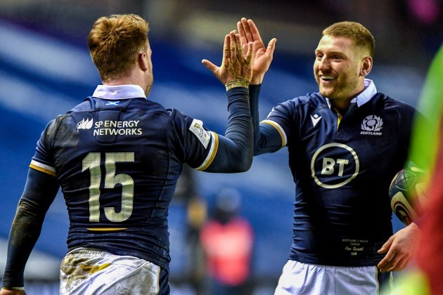 stuart-hogg-celebrates-scoring-a-try-with-finn-russell
