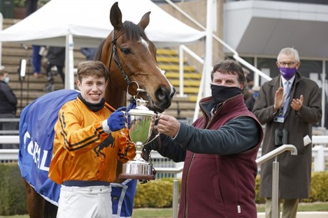 richard-condon-and-heaven-help-us-with-trainer-paul-hennessy-celebrate-after-winning
