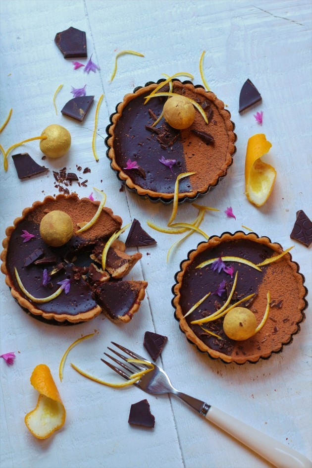 Chocolate orange tarts