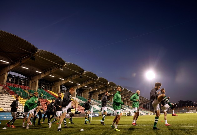 shamrock-rovers-warm-up-ahead-of-the-game