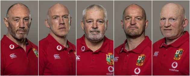 Lions coaching team (credit Inpho)