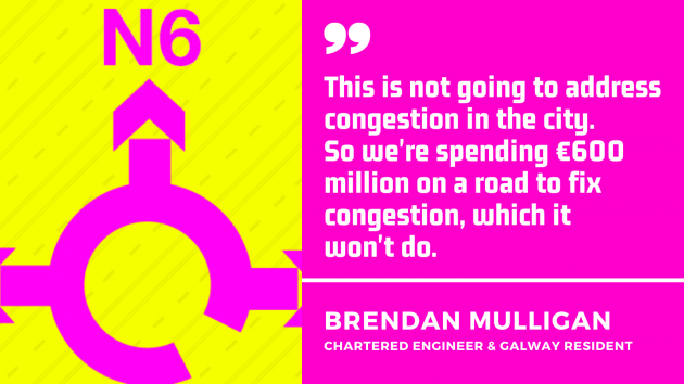 Quote by Brendan Mulligan, chartered engineer and Galway resident. This is not going to address congestion in the city. So we're spending €600 million on a road to fix congestion, which it won't do.